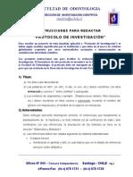 Instrucciones Redactar Protocolo