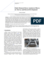 Applications of Finite Element Stress Analysis of Heavy