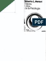 Merani, Alberto - Historia Crítica de La Psicología