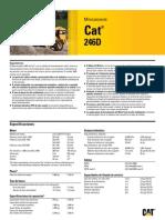 Minicargador Ruedas 246D CAT