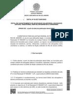 Edital - Advogado Dativo