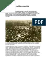 Burgfrieden Und Innenpolitik