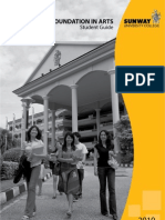 Sunway University College Foundation in Arts Student Guide 2010
