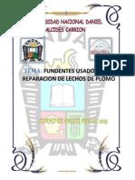 Fundentes Usados en La Preparfacion de Lechos de Fusion Del Plomo