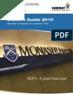 Sunway University College Monash University Foundation Year (MUFY) 2010