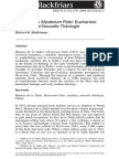 De La Taille's Mysterium Fidei- Eucharistic Sacrifice & Nouvelle Theologie