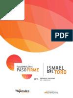 Segundo Informe de Gobierno | Ismael Del Toro