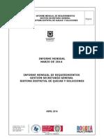 Informe Secretaria General Marzo 2014