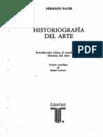 HISTORIOGRAFÍA DEL ARTE Introducción Crítica Al Estudio de La Historia Del Arte. HERMANN BAUER