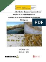 2008 Plan Calidad Datos Muestreos Ebro (Repetibilidad Biol)