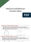 Maximum and Minimum Function Values (1)
