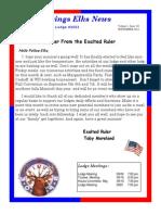 Sand Springs Elks September 2014 Newsletter