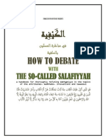 Debate With the So Called Salafiyyah