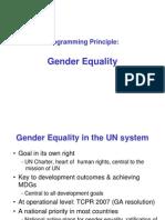 5 Principles - Gender Equality