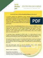 II World Dyslexia Forum - Chamada Para Inscrições