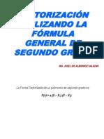 Factorizacion Utilizando Formula General Segundo Grado