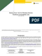 Symantec en BackupExec HCL V125