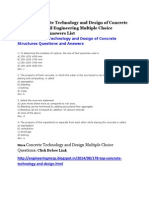 Concrete Technology and Design Multiple Choice Questions
