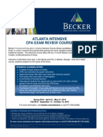 Atlanta Intensive Course Flier