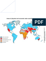 Water Scarcity map 2025