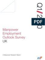 Manpower Employment Outlook Survey UK
