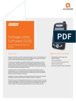 SUS Utility Software on the Handheld Device (HHD) Data Sheet