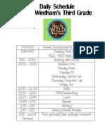 13-14 Class Schedule