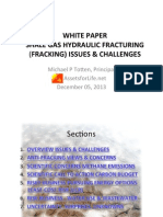 Totten Shale Gas Hydraulic Fracturing - Fracking Issues Challenges White Paper 12-05-2013 200 PPT