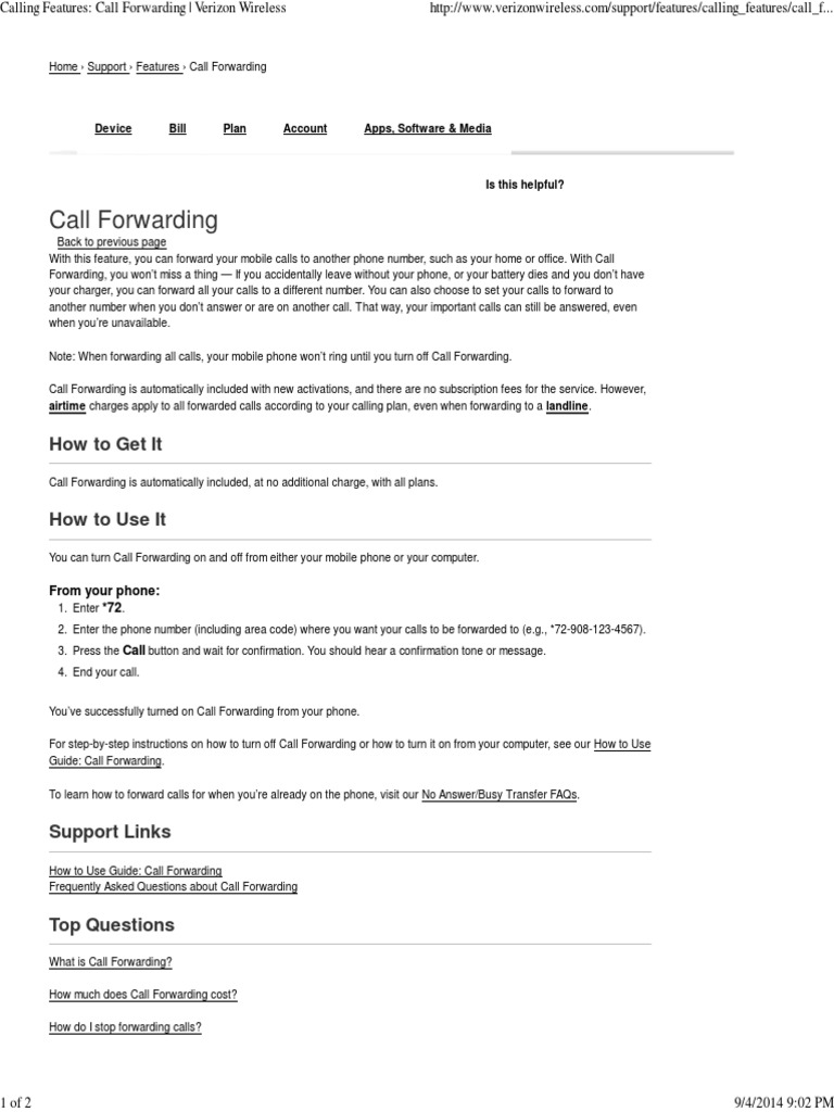 Verizon Call Forwarding | Llamada en conferencia | Llamadas