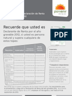 REQUISITOS DECLARACIONDERENTA 2012