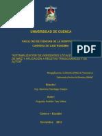 Tesis Nixtamalizacion de Variedades Locales Seleccionadas de Maiz y Apliaccion