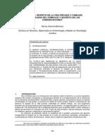Derecho Al Respeto de La Vida Privada y Familiar. Inviolabilidad Del Domicilio y Secreto de Las Comunicciones