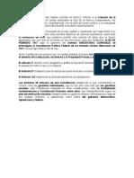 Resumen de La Constitucion de 1917.- Marco f