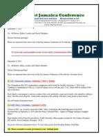 Communication -Advisory for September 6 -2014