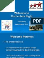 updatedfirstgradecurriculumnightpresentation2014