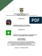 Documento Técnico de Construcción Del Ordenamiento (Ranking) IPS