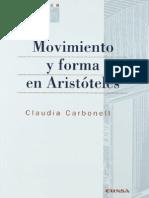 Movimiento y Forma en Aristoteles - Carbonell, Claudia