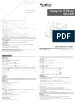 (325600574) Yealink SIP-T22P Quick Reference Guide V71 140
