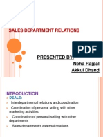 Sales Department Relations