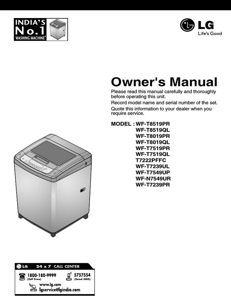 Lg fuzzy logic user manual washing machine laundry buycottarizona Images