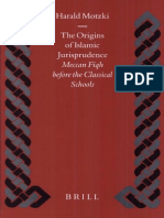 The Origins of Islamic Jurisprudence Meccan Fiqh Before the Classical Schools H Motzki