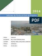 Informe de Visita Al Club Regatas en Chorrillos