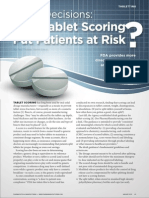 Tablet Scoring Patients Risk