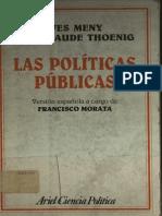 Las Politicas Publicas - Ives Meny y Jean-claude Thoening