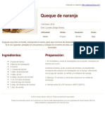 Sabores en Linea - Queque de Naranja - 2014-03-06