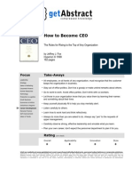 How to Become a CEO