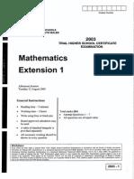 HSC Mathematics Extension One CSSA Trial