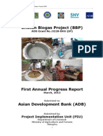 Bhutan Biogas Project First Annual Progress Report 2012