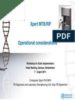 XDR MTBRIF Operational Considerations