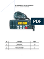 Procedure IC-M302 VHF Marine